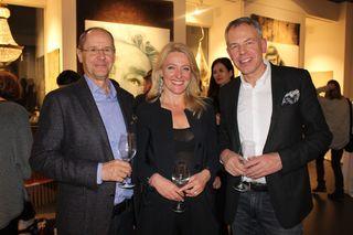 Gelungener Abend: Gerhard Friedrich, Bettina Stein und Harald Geba
