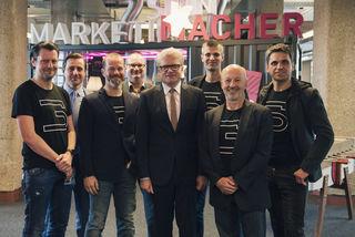 Die Freude über den Einzug ist sowohl beim startup300-Team als auch bei Tabakfabrik und Bürgermeister groß.