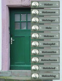 """Holz an der Tür: In Graz steht auf mindestens 968 Haustüren ein Familienname, der das Wort """"Holz"""" beinhaltet."""
