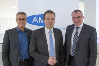 Dr. Johannes Kopf, LL.M. Vorstandsmitglied des AMS Österreich, Anton Kern, Landesgeschäftsführer des AMS Tirol, Mag. Johannes Tratter, Landesrat für Arbeitsmarkt und Arbeitnehmerförderung