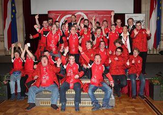 Die Wiener Delegation für die Special Olympics Winter Games 2017 wurde im Rathaus verabschiedet.