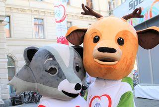 Special Olympics Mascottchen Luis und Lara