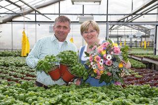 Kräuterexperte und Gartenbauunternehmer Johann Winklhofer und Pauline Trausnitz, Geschäftsführerin der Gärtner und Gemüsenbauern