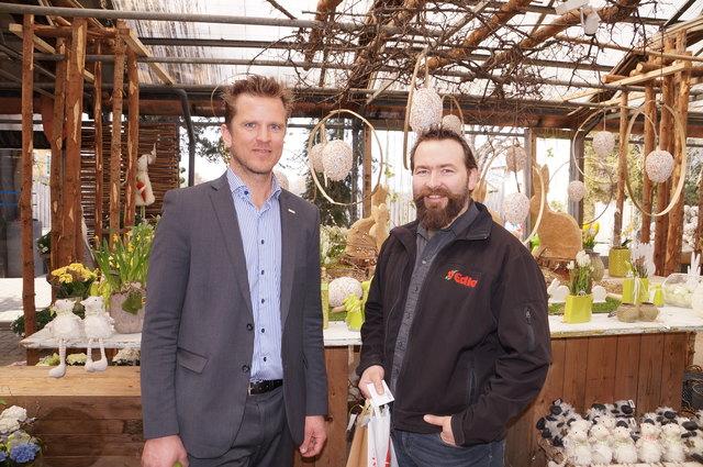 Gartenzentrum Edler: Viktor Larissegger (WKO) und Josef Edler