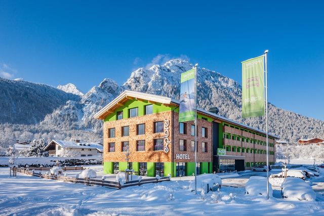 Das neue Hotel in Hinterstoder wird so aussehen wie das Explorer-Hotel im deutschen Berchtesgaden.