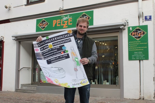 """Philipp Subosits organisiert im Auftrag der Aktion82 und der Stama St. Veit das """"Frühlingserwachen in der Herzogstadt"""""""