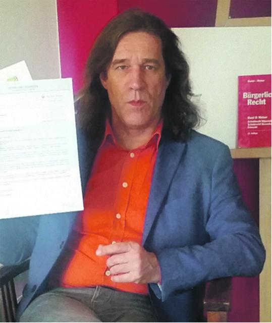 Manfred Tauchner erhielt einen Brief vom Anwalt, im Auftrag von Bürgermeister Franz Schneider