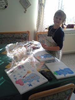 Malen mit Kindern mit Acrylfarben