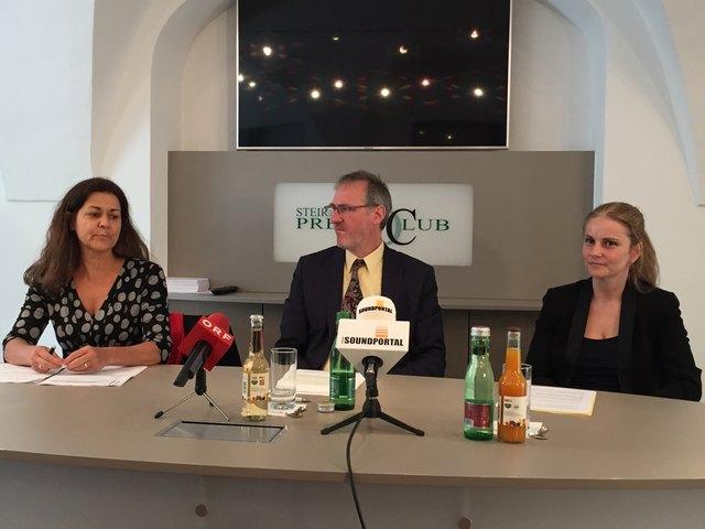 "Präsentation der ""Hate Crime"" Studie: LR Doris Kampus, Klaus Starl und Daniela Grabovac"