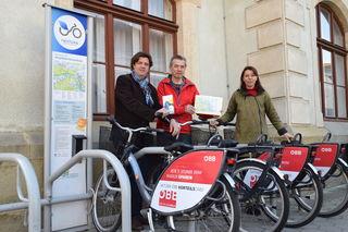 Bei der Radbörse sein Radl verkaufen und mit dem Nextbike wieder nach Hause fahren.