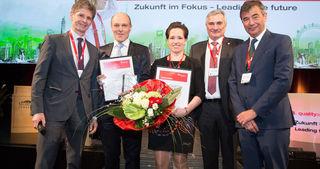 Alexander Woidich (Sprecher der Jury), Gerd Hartinger (Österreichs Qualitäts-Champion 2016), Marlies Hart (Österreichs Qualitäts-Talent 2016), Konrad Scheiber (Geschäftsführer Quality Austria), Peter Neumann (Präsident ÖVQ)