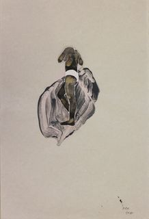 Monika Pascoe Mikyšková, Mischtechnik auf Bütten, 47 x 32 cm, 2017