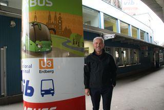 """Container-Romantik für Touristen herrscht derzeit in Erdberg. Davor Sertic (Wirtschaftskammer Wien): """"Das ist für Wien unwürdig!"""""""