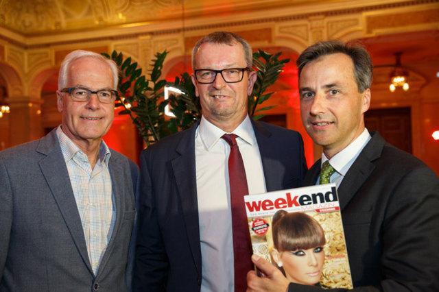 Gratulation zum Jubiläum: Gerhard Rüsch, Robert Eichenauer und Siegfried Nagl (v.l.)