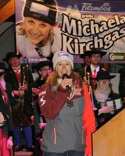 """Michaela Kirchgasser: """"Es ist wunderschön daheim so herzlich empfangen zu werden!"""""""