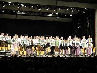 Die MusikerInnen der Stadtkapelle Gleisdorf ernteten tosenden Applaus für ein tolles Konzert.