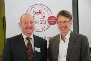 Martin Wagner (Veterinärmedizinische Universität Wien) und Gerd Schatzmayr (BIOMIN Research Center Tulln)