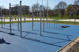 Am 24. April wird die Trainingsanlage im Sportpark offiziell eröffnet. Trainieren kann man dort aber schon jetzt.