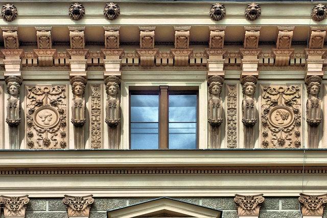 Ein Fassadendetail des herrlichen Palais Epstein an der Bellaria. https://de.wikipedia.org/wiki/Palais_Epstein