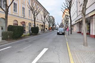 Ein Stück der Bahnhofstraße – zwischen Burg- und Paradeisergasse – wird nach dem Verkehrskonzept für den Verkehr gesperrt