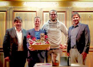 Manfred Lanzinger (Untertilliach), Markus Koschuh, Orgnisator Christian Altenweisl und Matthias Scherer (Obertilliach) (v.l.).