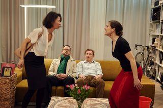 Bei der Aufführung: die Schauspieler Daniela Kong, Géza Terner, Johannes Rhomberg und Christina Trefny (v.l.).