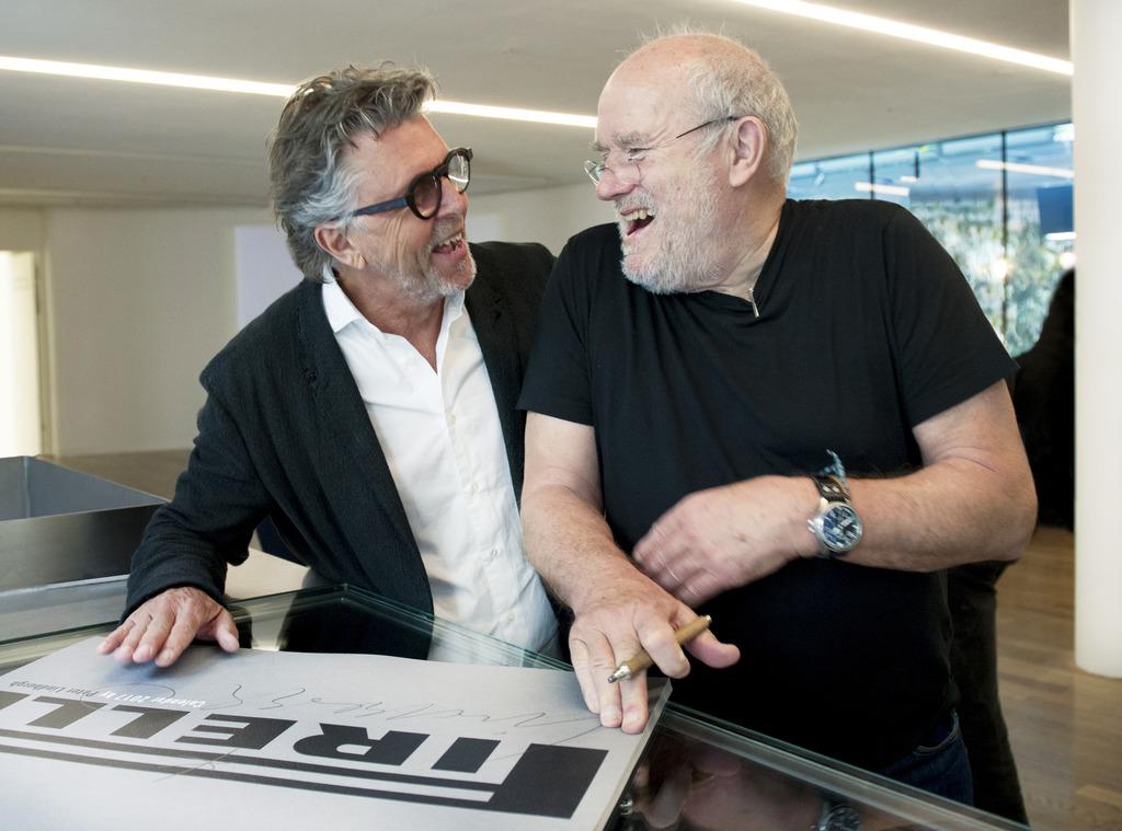 Männersache: Gerhard Krispl (l.) und Peter Lindbergh