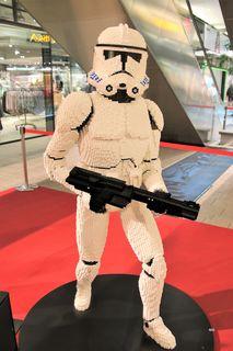 Lego-Ausstellung, Star Wars, Stormtrooper, Graz Murpark, 3D-Modell