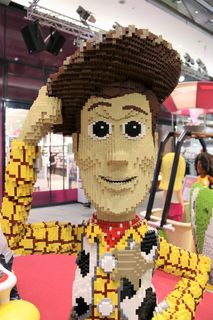 Lego-Ausstellung, Graz, Murpark, 3D-Modell, Toy Story, Woody