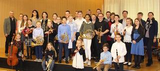 Die Preisträgerinnen und Preisträger der Musikschule Leobendorf/Bisamberg/Enzersfeld.