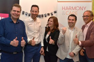 Investoren überzeugt: Herwig Neumann (Gründer Harmony & Care), Stefan Schwarzenbacher (KWF), Anja Silberbauer (Geschäftsführerin Harmony & Care), Nikola Dobric (Gründer Harmony & Care) und Heinz Köstenbauer (Geschäftsführer Köstenbauer Steuerberatung)