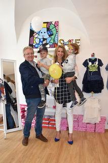 Gerhard Brenner und Julian mit Lily Nagger und Dylan
