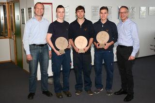 Markus Nagl (COO), Martin Gegenbauer (aus Waidhofen), Manuel Weiß (aus Zwettl), Sebastian Reininger (aus Horn) und Volker Fuchs (CEO)