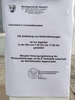 Von 7 bis 17 Uhr scheint in Absdorf die Sonne.