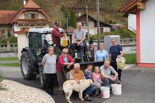 Sowohl in Neuhaus als auch in Kalch (Bild), Krottendorf und Bonisdorf rückten umweltbewusste Helfer zum Saubermachen aus.