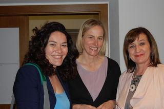 V.l.n.r.: LH-Stv. Ingrid Felipe, Netzwerk-Koordinatorin Helga Mayr und Amtsführende Landes- schulratspräsidentin LR Beate Palfrader