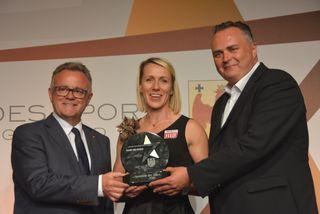 Sportlerin des Jahres: Hans Niessl, Nicole Trimmel und Hans Peter Doskozil