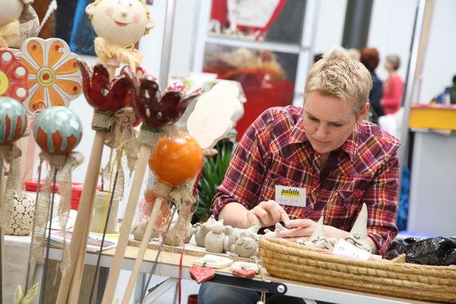 Auf der Kuchen- und Kreativmesse kann jeder Besucher seine kreative Ader entdecken.