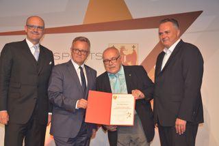 Ehrenpreis des Landeshauptmanns: Werner Herics, Hans Niessl, Peter Fuith, Hans Peter Doskozil