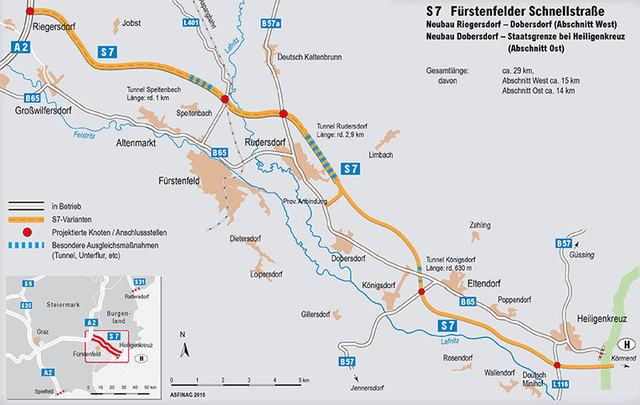Die Autobahngesellschaft hat nach der Entscheidung des Verwaltungsgerichtshofs keinen rechtsgültigen Wasserrechtsbescheid für die S7 in der Hand.