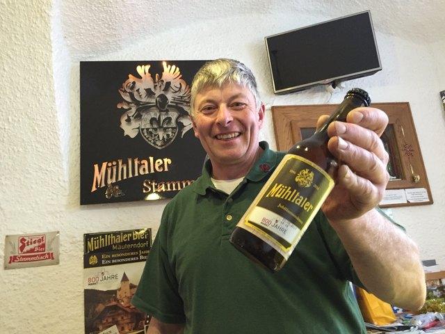 Hubert Mauser, der Vater von Christian Mauser, der die Mühltaler Brauerei in Mauterndorf wiederbelebt hat.