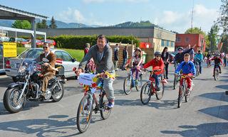 Bei der Sternfahrt ins Sportzentrum Völkermarkt am 1. Mai nimmt die Zahl der Radfahrer Jahr für Jahr zu
