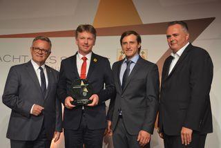 Sportler des Jahres: LH Hans Niessl, Klaus Wiesberger (in Vertretung von Bernd), Matthias Mayer und BM Hans Peter Doskozil