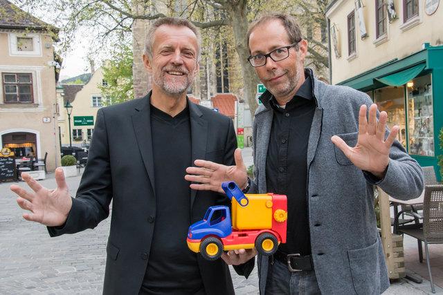 Bmstr. Ing. Klaus Kiessler (l.) konnte diesmal Professor Dr. Georg Hauger von der TU Wien in Mödling begrüßen