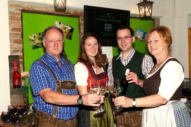 Familie Loder-Taucher stieß auf zwei gelungene Abende an.