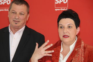 Irene Heisz wird neue Spitzenkandidatin der SPÖ. Helmut Buchacher (li.) – kürzlich vom Stadtparteitag in diese Funktion gewählt – rückt auf Platz zwei.