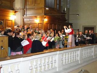 Der Singkreis Kulmland sang gemeinsam mit zwei weiteren Chören.