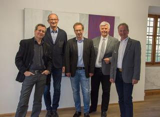 Arthur Salner, Landtagsvizepräs. Toni Mattle, Bgm. Wolfgang Jörg, Christian Rudig und Christoph Carotta.