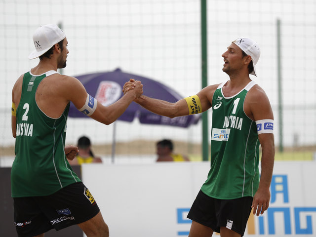 Bestes AUT-Team in China: Christoph Dressler (li.) und Tommy Kunert vom 1. BBV
