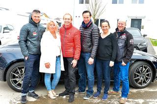 Von links: Reinfried Herbst, Claudia Geiger (Leiterin Kommunikation Pro Juventute), Heribert Kasper, Manfred Pranger, Gerda Farasin (Leiterin Pro Juventute Sandl) und Andy Lee Lang.